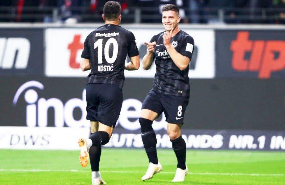 Luka Jovic a intrat în istoria Bundesliga cu cele 5 goluri marcate în meciul cu Dusseldorf
